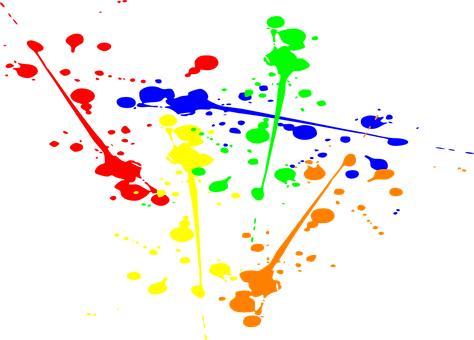 Splatter Ink Paint Splash Splatte
