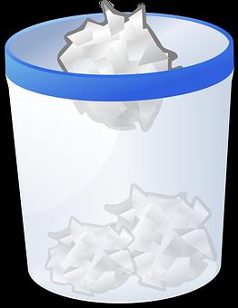 Recycle Trash Garbage Crumpled Paper