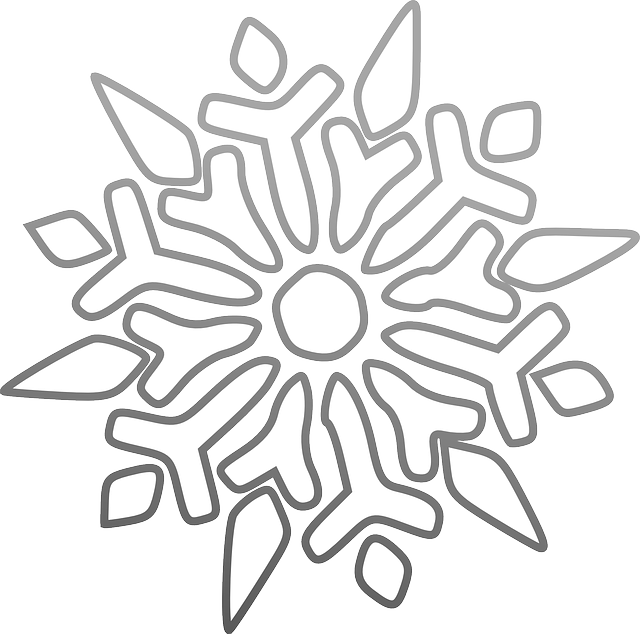 Vector graphic of a snowflake