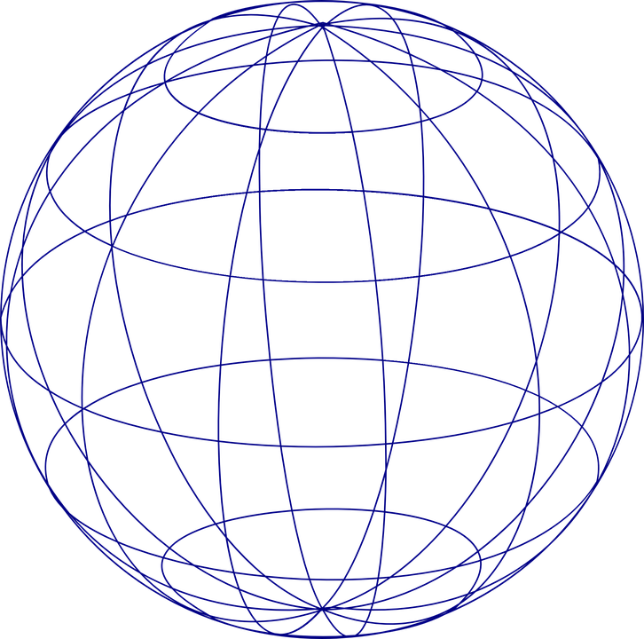 Line Art Earth : Free vector graphic sphere globe grid earth planet