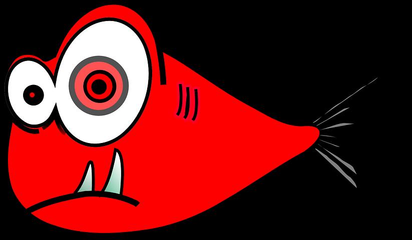Смешной рисунок рыбки