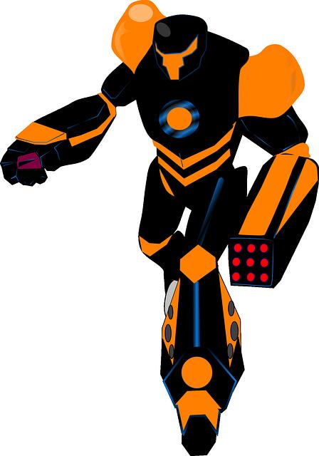 robot black orange  u00b7 free vector graphic on pixabay