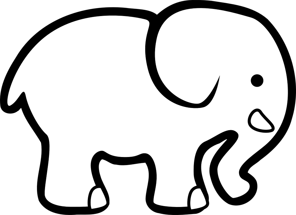 Elephant Animal Silhouette Free vector graphic on Pixabay