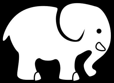 elephant animal silhouette cartoon outline - Animal Outlines