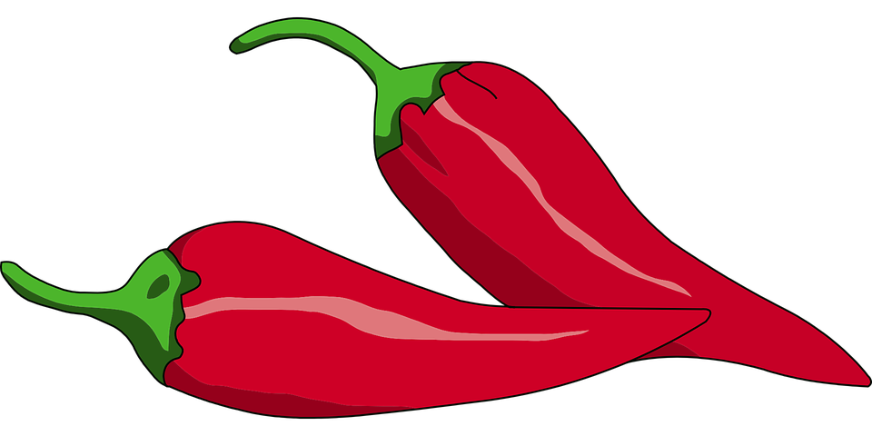 free vector graphic: red peppers, chilli, hot, spices - free image