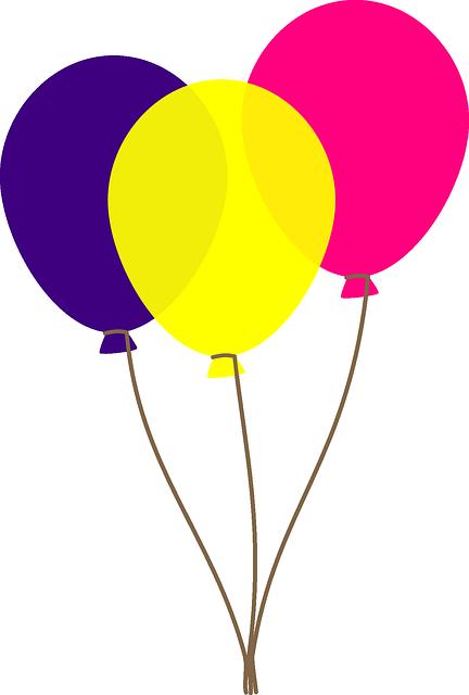 foto de Balloons Yellow Purple · Free vector graphic on Pixabay