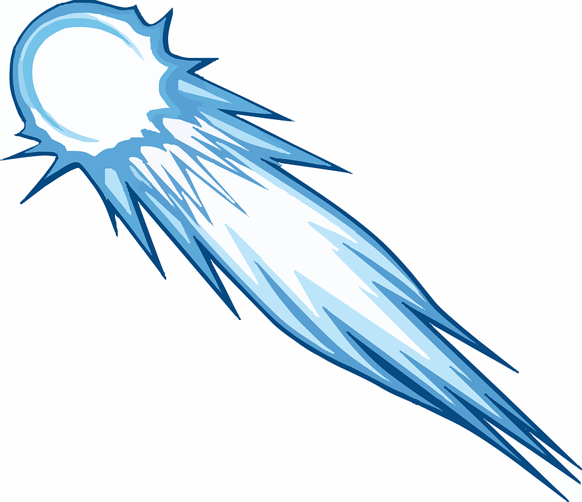 comet meteor asteroid fire free vector graphic on pixabay rh pixabay com