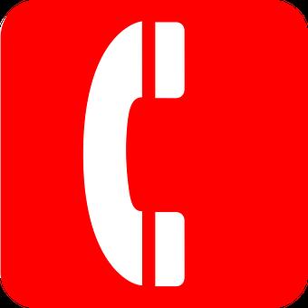 Rot, Telefon, Symbol, Notfall