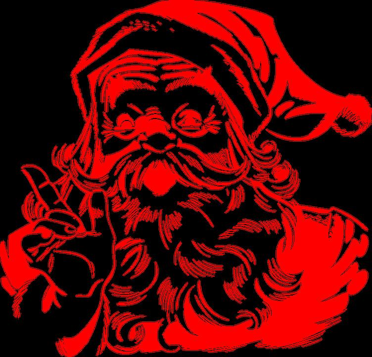 santa claus red christmas santa x mas bearded - Santa Claus Red