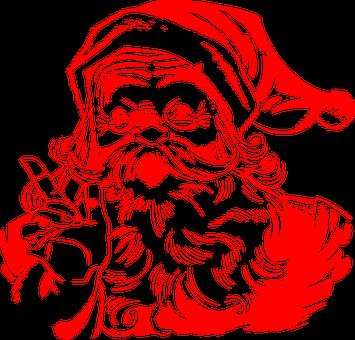 Santa Claus, Red, Christmas, Santa