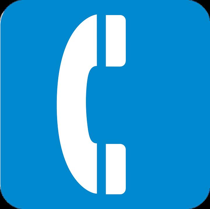 Vector gratis: Signo, Teléfono, Azul - Imagen gratis en