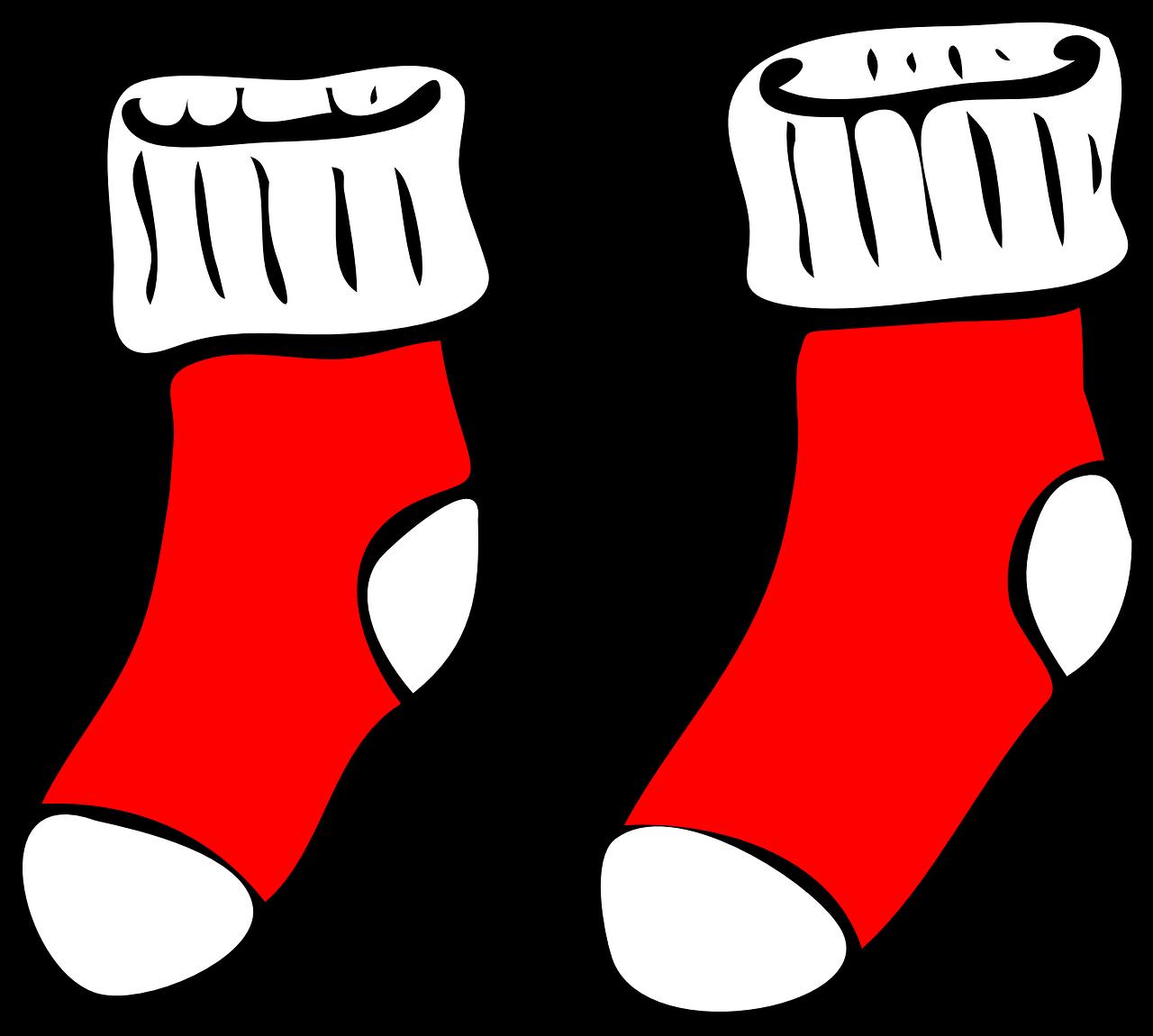 Носки рисованные