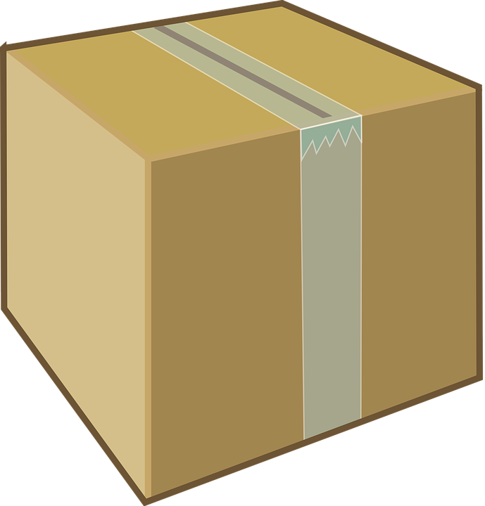 Cardboard Box Brown · Free vector graphic on Pixabay Package Clipart