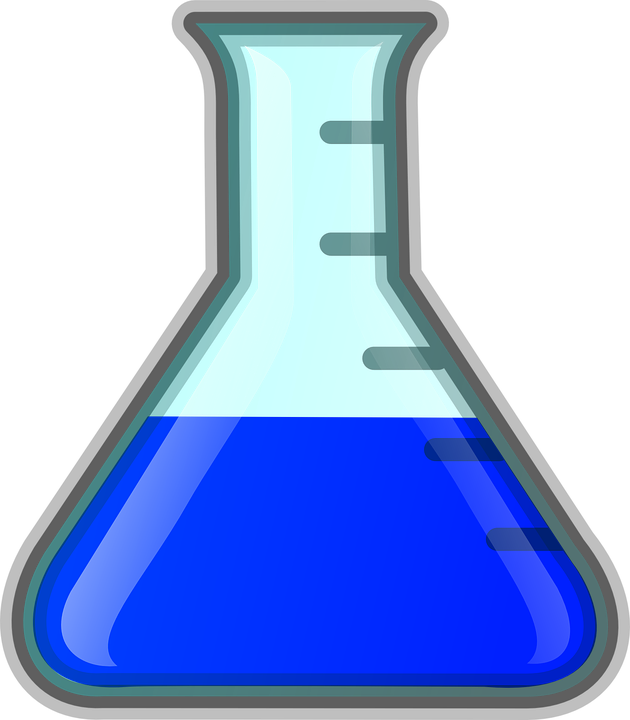 erlenmeyer flask chemistry blue  u00b7 free vector graphic on medication bottle clipart pill bottle clipart free