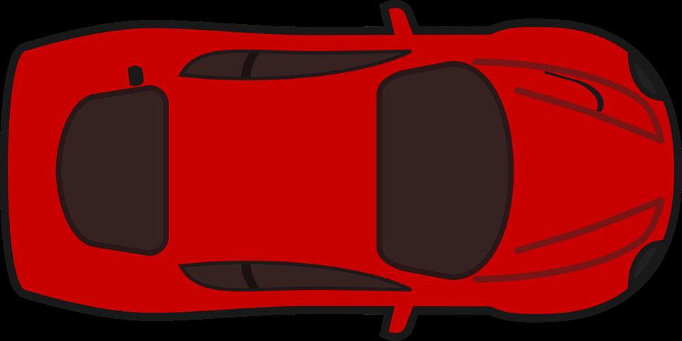 Image vectorielle gratuite voiture de course ferrari red image gratuite sur pixabay 296772 - Voiture vue de haut ...