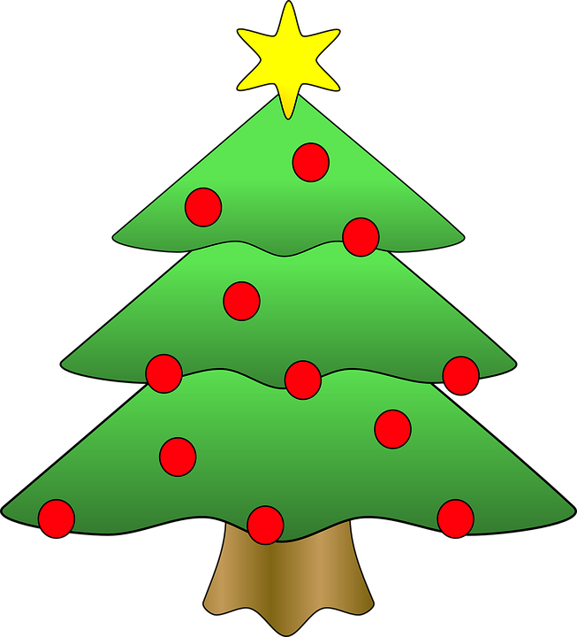 Christmas tree star free vector graphic on pixabay - Sapin clipart ...