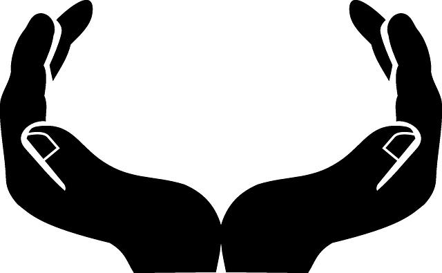 Tangan Dua Terbuka Bayangan · Gambar Vektor Gratis Di Pixabay