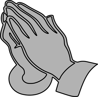 Prayer, Hands, Praying, Gray