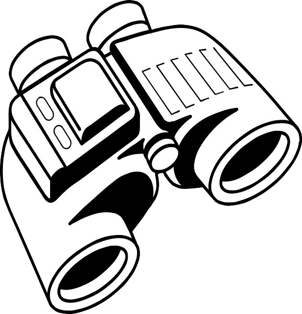 spy gear coloring pages | Free vector graphic: Binoculars, Spy Visual, Looking ...