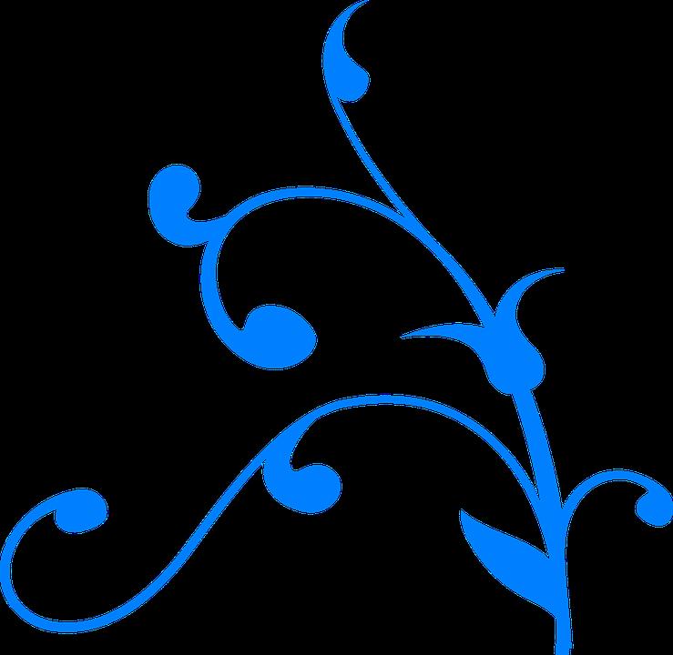 flower blue swirl swirly swirls vine