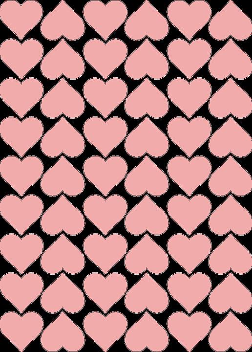 Hearts, Love, Romance, Pink, Tile