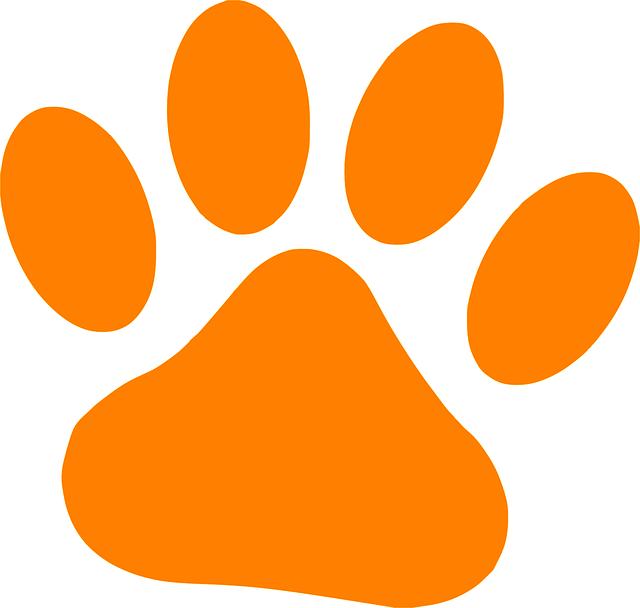 Pata gato orange gr ficos vectoriales gratis en pixabay - Image patte de chien gratuite ...