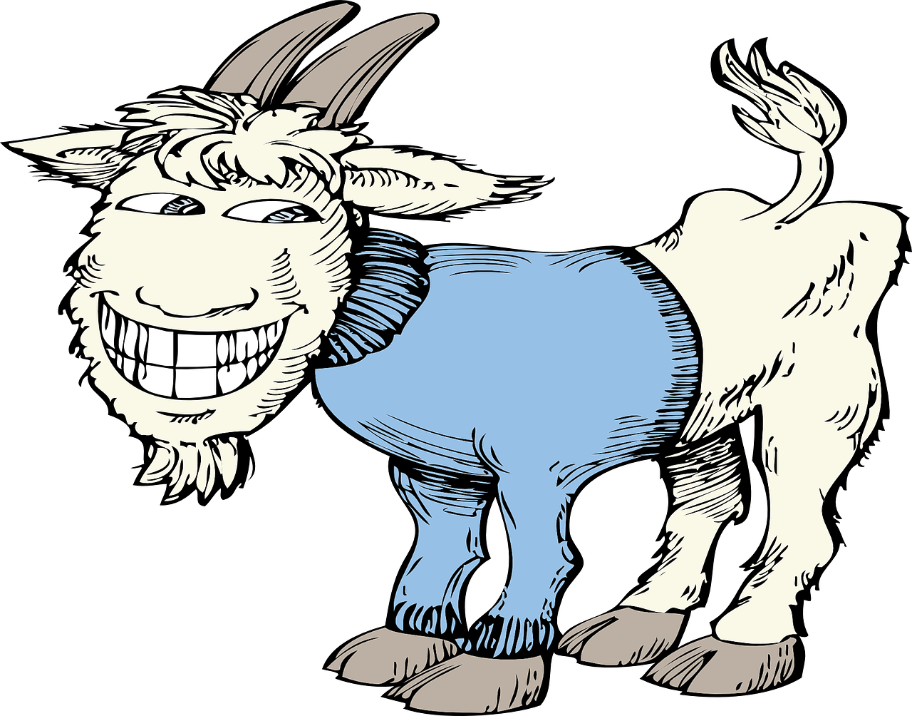 Рисунок прикольных коз образом