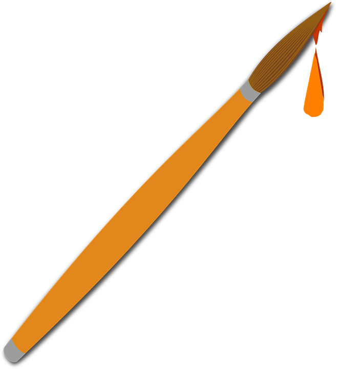 Paint Brush Color Artist · Free vector graphic on Pixabay