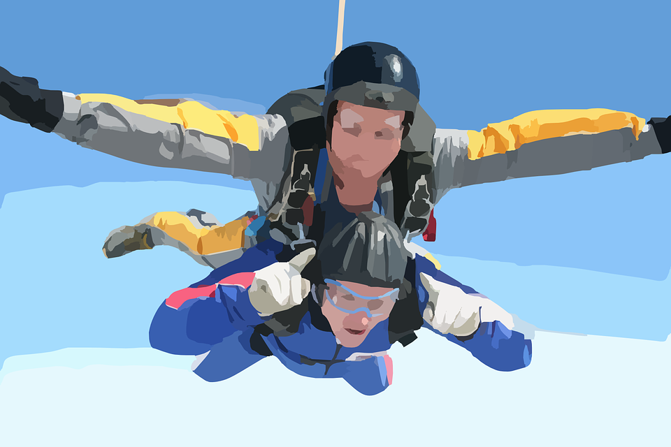 Free vector graphic: Skydiving, Skydiver, Free Fall - Free ...