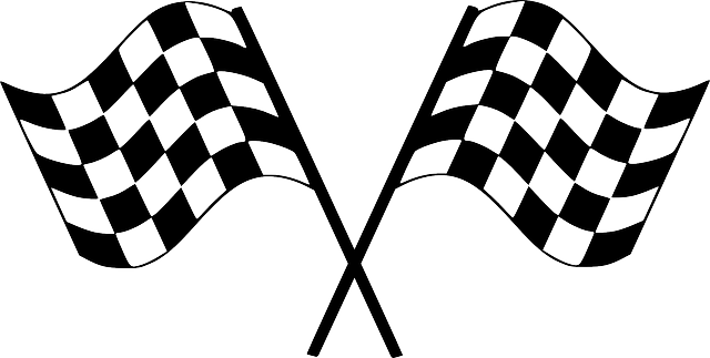 Dirt Bike Clipart Black And White Checker Flags Racing &...