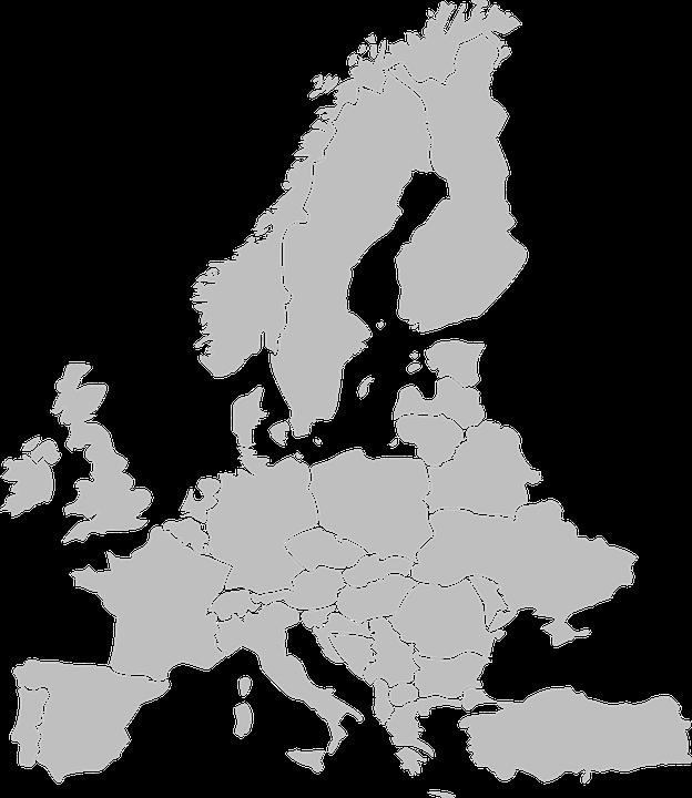 image vectorielle gratuite europe carte pays etats gris image gratuite sur pixabay 297168. Black Bedroom Furniture Sets. Home Design Ideas