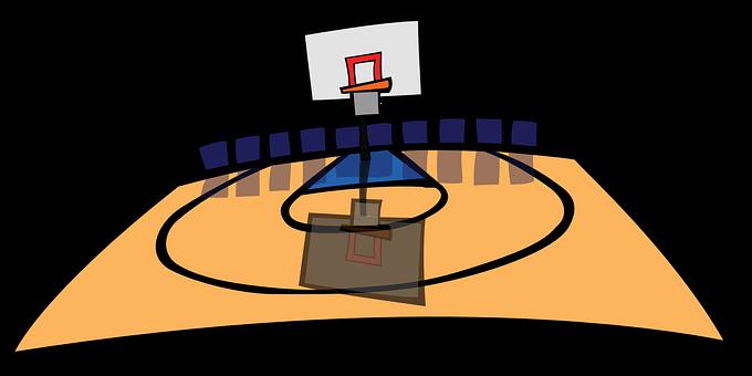 バスケット ボール, バスケットボールのコート, バスケットボールのフィールド