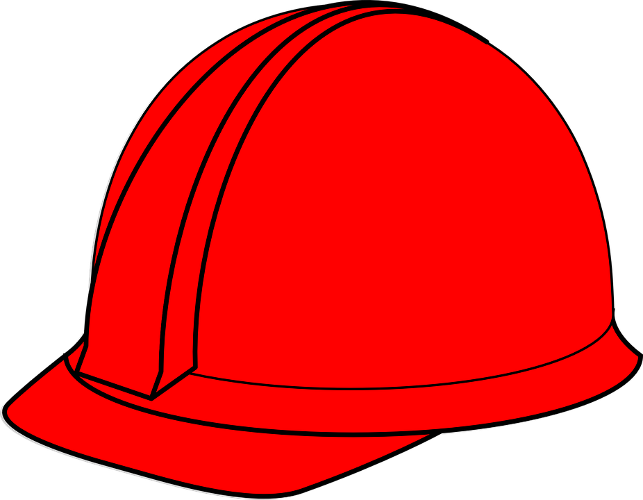 hard hat helmet red free vector graphic on pixabay rh pixabay com