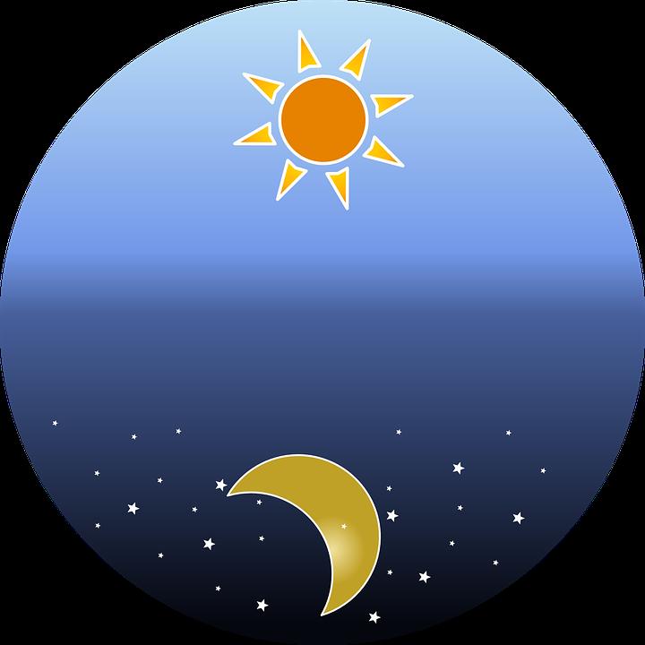 Nightsky, Estrellas, Sol, Día, Noche