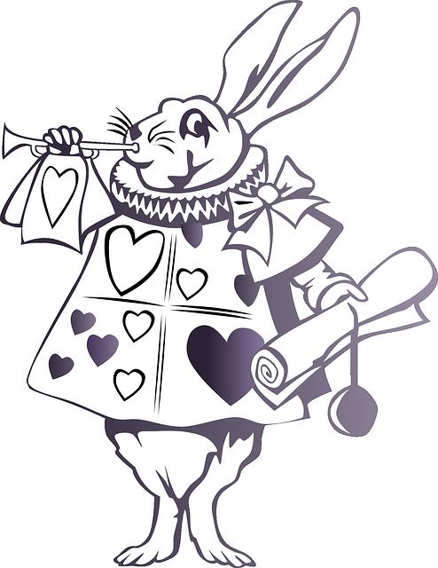 Alice In Wonderland Rabbit Story Free vector graphic on