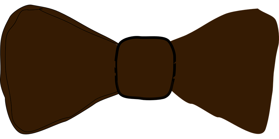 bow tie bow tie brown free vector graphic on pixabay