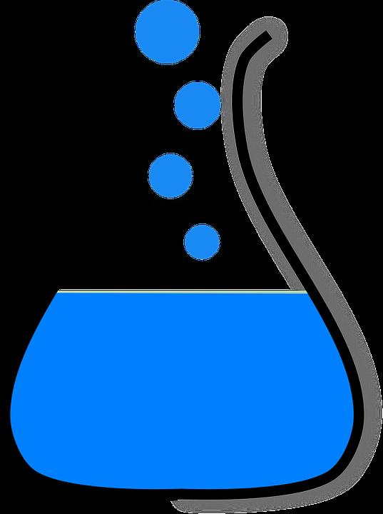 erlenmeyer flask chemistry free vector graphic on pixabay rh pixabay com Cartoon Chemistry Clip Art Analytical Chemistry Clip Art