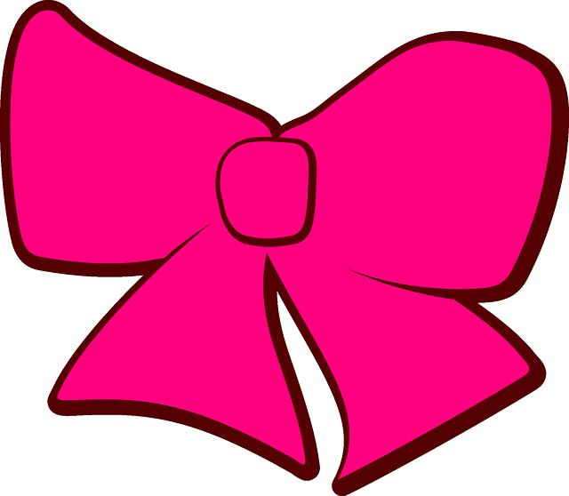 Картинки розового банта