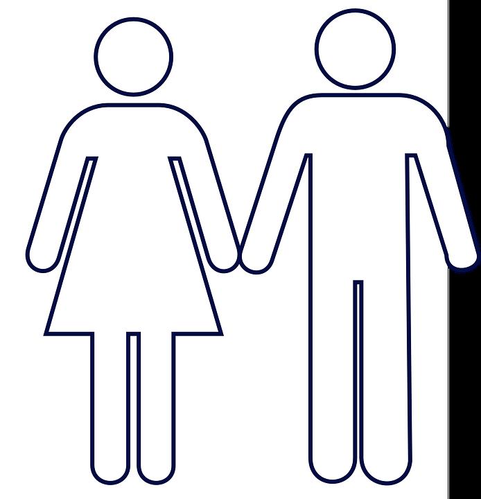 Hombre Mujer Wc Sosteniendo Las Gráficos Vectoriales Gratis En Pixabay