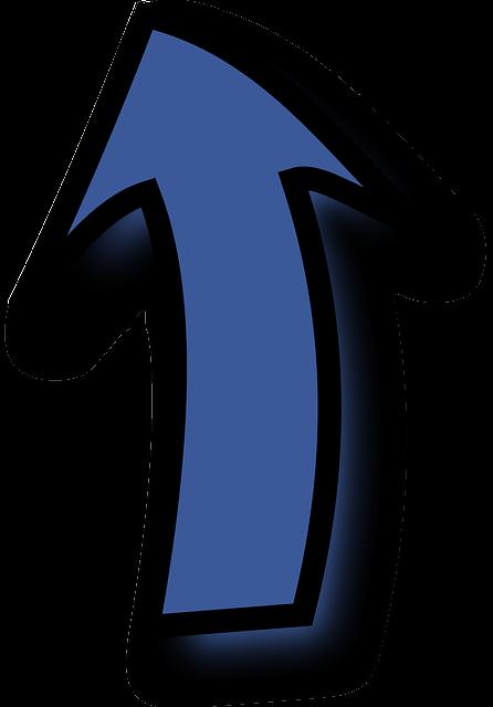 pfeil blau bis  u00b7 kostenlose vektorgrafik auf pixabay
