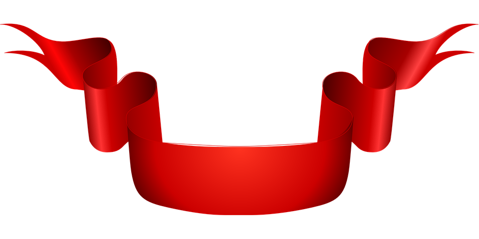 Ribbon, Red, Scroll, Banner, Sash