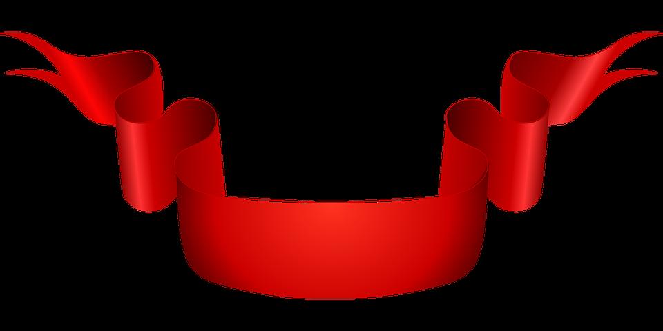 Ribbon, Red, Scroll, Banner, Sash