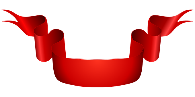 Ribbon Red Scroll Banner Sash Ribbon
