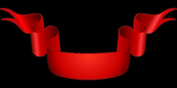 Ribbon Red Scroll Banner Sash Ribbon