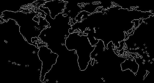 weltkarte karte welt kostenlose vektorgrafik auf pixabay. Black Bedroom Furniture Sets. Home Design Ideas