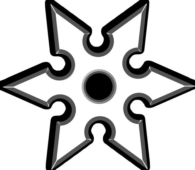 Ninja Star Throwing Shuriken · Free vector graphic on Pixabay (640 x 561 Pixel)