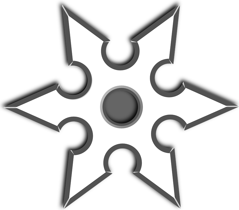 Ninja Star Throwing Shuriken · Free vector graphic on Pixabay