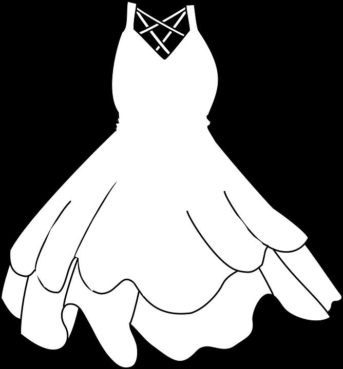Wedding Dress Black White Free Vector Graphic On Pixabay