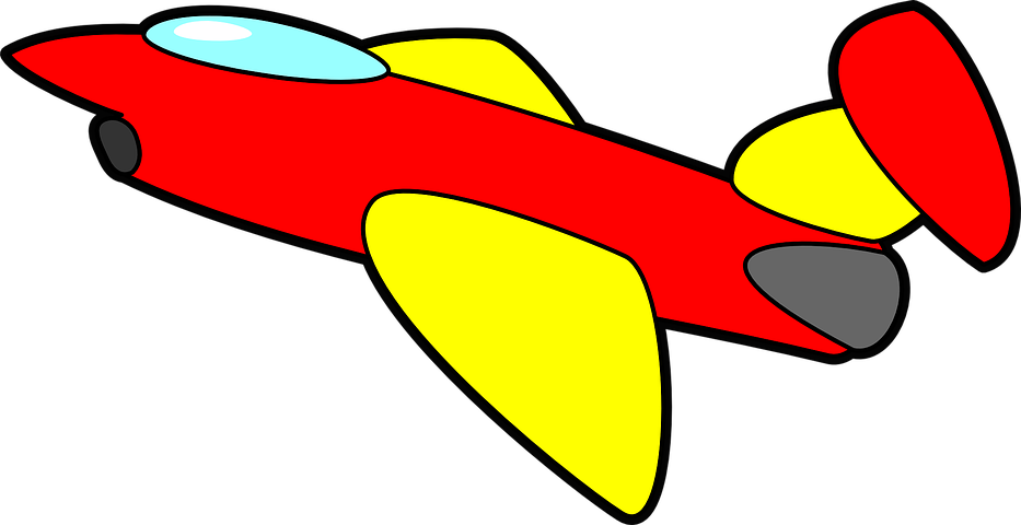 Картинка цветная самолет