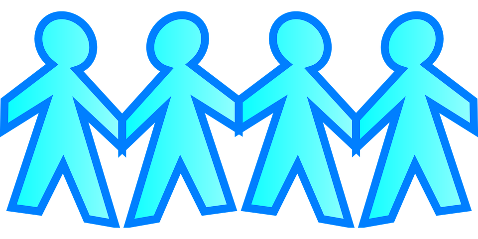 Stick Figures Holding Hands